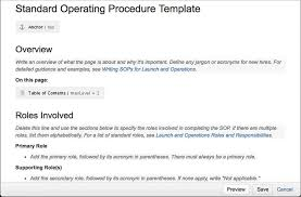 Procedure Note Template Designing Wiki Templates For Todays Web Intercom