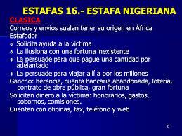 Resultado de imagen para Fraude nigeriano de cargo anticipado