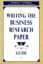 cap writing the business research paper a complete guide  writing the business research paper book jacket