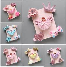 <b>5Pcs</b>/<b>set</b> Kids Infant Baby Girl Hair Clip Bow <b>Flower</b> Cartoon Hairclip ...