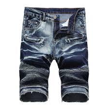 Mens Designer Cargo Shorts Sale Men Denim Short Stretch Slim Fit Short Jeans Mens Designer