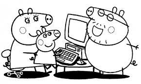 Small Picture Imgenes con dibujos de Peppa Pig para pintar y colorear