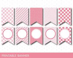 Pink Banners Pink Party Banner Pink Banner Pink Birthday By