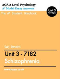 aqa psychology unit revision loopa psychology revision schizophrenia model essays for unit 3 a level students yr 13