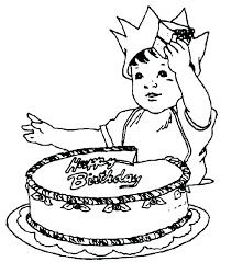 Cakes Coloring Pages Coloring Pages Birthday Cake Free Printable