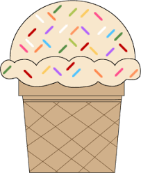 ice cream scoop with sprinkles clipart. Vanilla Ice Cream Cone With Sprinkles Clip Art In Scoop Clipart ClipartXtras