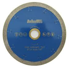continuous rim diamond blade with j slot for tile cutting