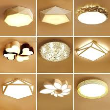 diy ceiling light cover white creative geometry led ceiling lighting bedroom ceiling modern ceiling light led
