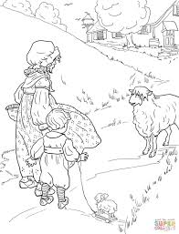 Small Picture Little Bo Peep has lost her sheep coloring page Free Printable