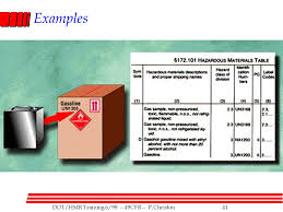 Dot Hazardous Materials Table Shipping Hazardous Materials Ppt Video Online Download