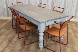 large 10ft handmade white washed rustic pine kitchen table handmade kitchen tables northern ireland
