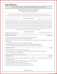 Administrative Assistant Resume Samples Resume Examples For Administrative Assistant Inspirational 75