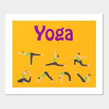 Yoga Pose Chart Poster Yoga Pose