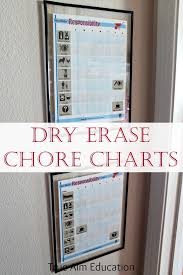Diy Dry Erase Chore Charts For Young Children True Aim