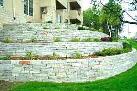 stone retaining wall cost retaining wall cost stone natural fence dry per metre walls materials stone retaining wall cost per foot