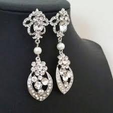 chandelier bridal earrings art deco wedding earrings vintage s