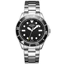 rotary watches automatic mechanical quartz h samuel rotary men s black dial stainless steel bracelet watch product number 4606884