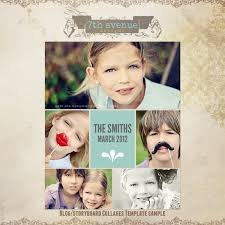 christmas card collage templates free blog storyboard collage template freecollages its free