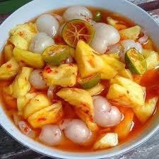 Resep acar merah nanas, ketimun & wortel tweet. Resep Acar Nanas Rambutan Harian Pelita Com