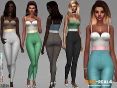 <b>Комбинезон Celine</b> Outfit от Margeh-75   Симс   Симс 4, Симы и ...