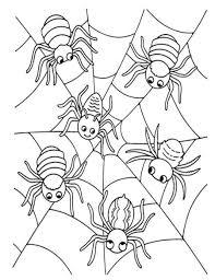 Spinnenweb Kleurplaat Kinderboekenweek 2017 Gruwelijk Eng