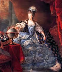 marie antoinette with a globe