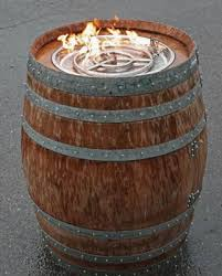 36+ Creative DIY Ideas to Upcycle Old Wine Barrels --> Wine Barrel Fire