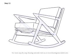 chair drawing easy. Learn How To Draw Rocking Chair (Furniture) Step By : Drawing Tutorials Easy