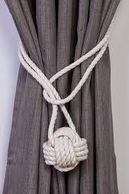 curtain tiebacks and holdbacks cotton rope monkey fist knot tie backs nautical curtain tiebacks