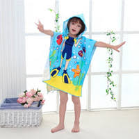 kids hooded beach towels. Beach Towel Kids Hooded Cloak Cartoon Animal Baby Boys Girls Bibulous For Children Serviette Cotton Towels Bathroom