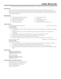 Resume Examples Social Work – Mycola.info