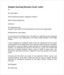 Gallery Of Resume Cover Letter Examples For Nurses