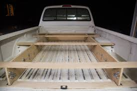 adventure truck retroed a toyota tacoma with a bed and drawer system for climbing and adventuring