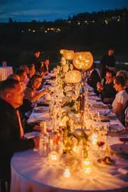 tuscany wedding a chandelier reception table