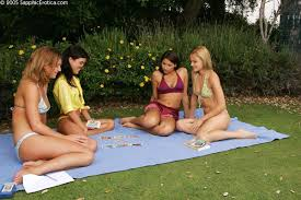 Outdoor Teen Foursome