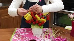 how to make an edible strawberry pineapple fruit arrangement radacutlery com you