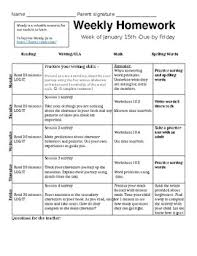 Weekly Homework Assignment Sheet Weekly Assignment Sheet Template Sinma Carpentersdaughter Co