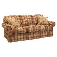 colorful red plaid sofa super red