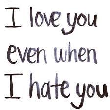 I Love U And I Hait U Images