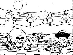 charming beautiful free printable Angry Birds cartoon coloring ...