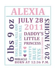 Baby Girl Birth Announcements Template Free Free Word Collage Baby Birth Announcement Free Nursery Wall Art