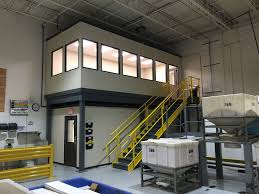office mezzanine. Mezzanine With Modular Office Above