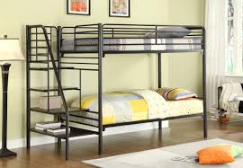 Black metal bunk bed Top Full Bottom Donco Metal Bunk Beds Kfs Stores Donco Metal Bunk Beds With Stairs Kfs Stores