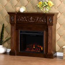 michael 44 5 in freestanding carved electric fireplace