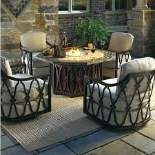 round patio furniture with fire pit outdoor round patio fire pit vinyl cover outdoor furniture with