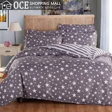 whole active printed grey bedding set king size five pointed star bed set contain duvet cover bedsheet pillowcase bedclothes 45 bed nest bed irons bed