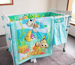 fish ocean baby bedding set cot crib bedding set for girls boys includes cuna quilt baby bed per sheet skirt newborn baby bedding baby bedding baby