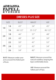 Macy S Size Chart Shoes Adrianna Papell Evening Dresses Plus Size Chart Via Macys