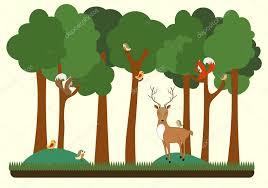 Výsledek obrázku pro lesní zvířata v lese