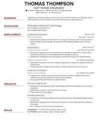 Resume Font Type 964
